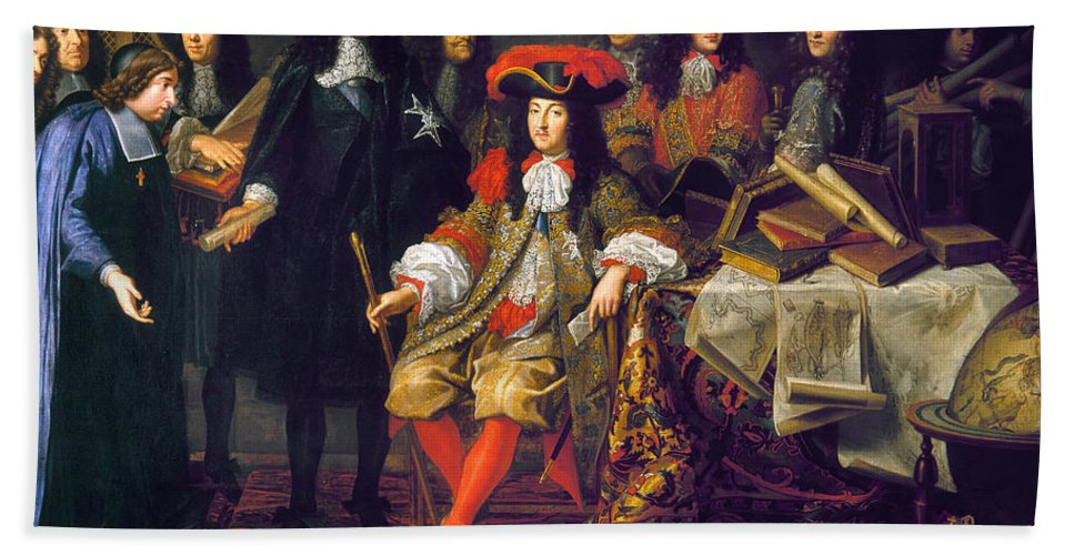 1666 Bath Sheet featuring the photograph Louis Xiv (1638-1715) by Granger