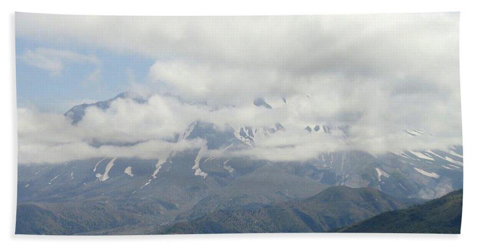 Photos Of Mt St Helens Photographs Bath Sheet featuring the photograph Louwala-clough by Christy Leigh