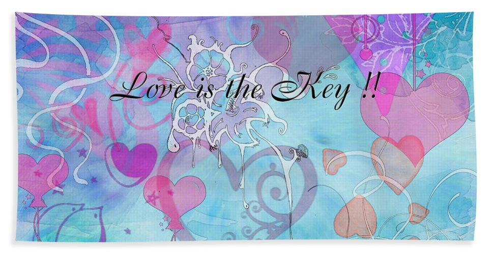 Valentine Bath Sheet featuring the photograph Love Is The Key by Debbie Portwood