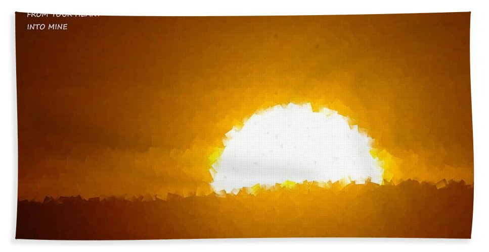 Sun. Sun Rise Hand Towel featuring the photograph Love Is The Sunshine by Jeff Swan