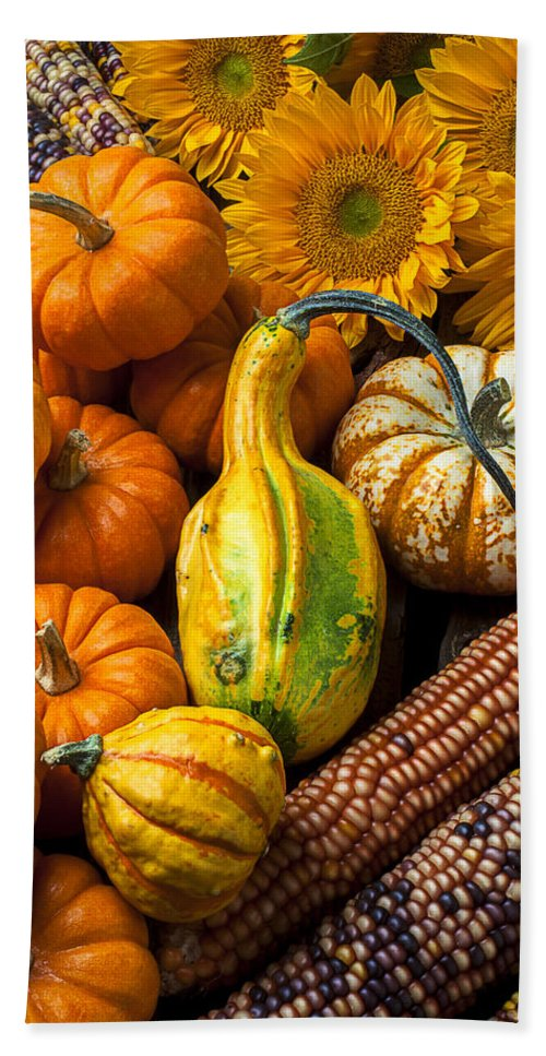 Gourd Hand Towel featuring the photograph Lovely Autumn by Garry Gay