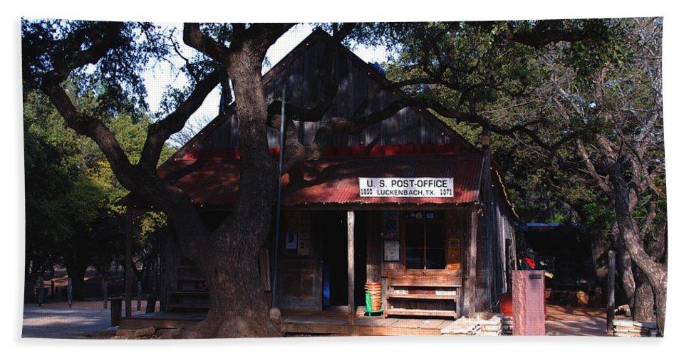 Luckenbach Hand Towel featuring the photograph Luckenbach Texas - II by Susanne Van Hulst