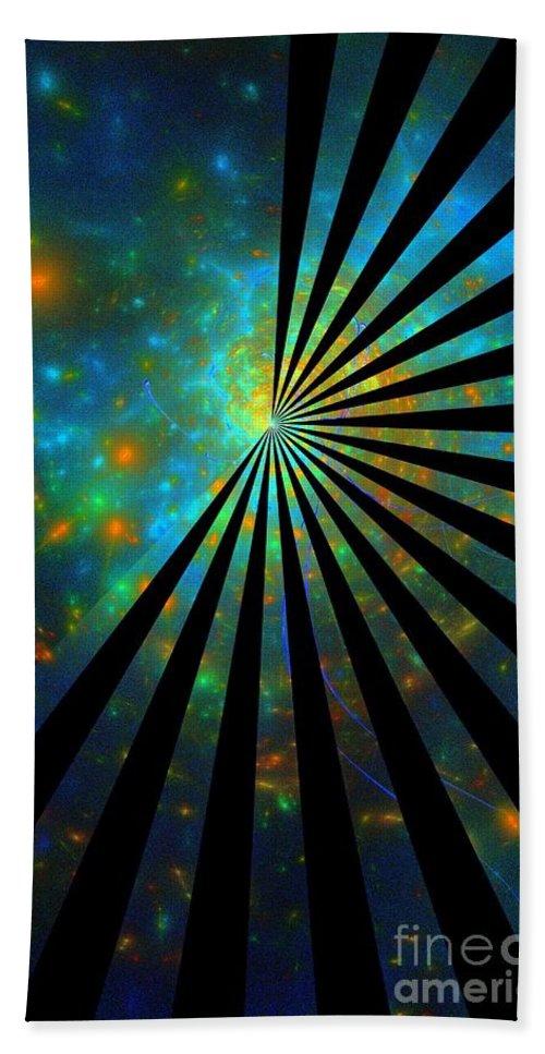 Lucky Star Hand Towel featuring the digital art Lucky Star-image by Klara Acel
