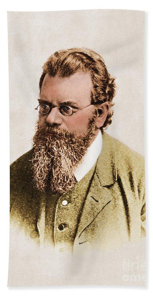 Ludwig Eduard Boltzmann Hand Towel featuring the photograph Ludwig Boltzmann, Austrian Physicist by Photo Researchers