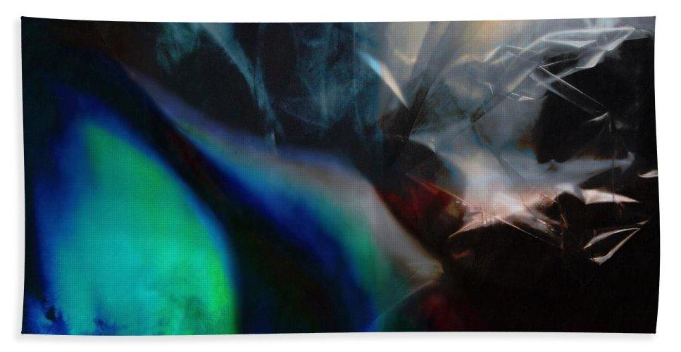 Digital Landscape Bath Sheet featuring the painting Lunar Radiation by Wolfgang Schweizer