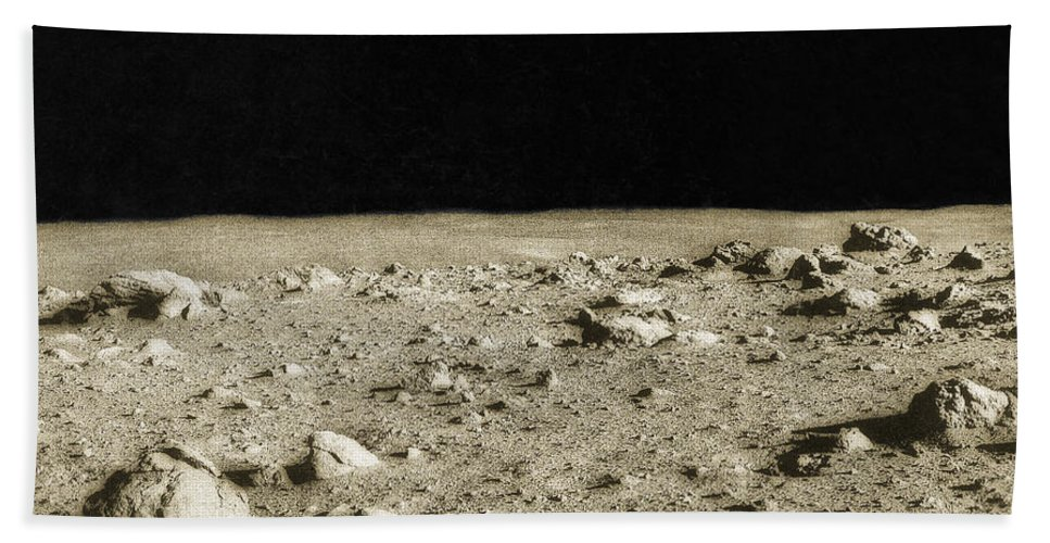 Enhanced Hand Towel featuring the photograph Lunar Surface by Science Source