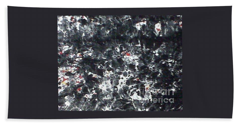 Passage Bath Sheet featuring the painting Maafa 2000 by Meroe Rei
