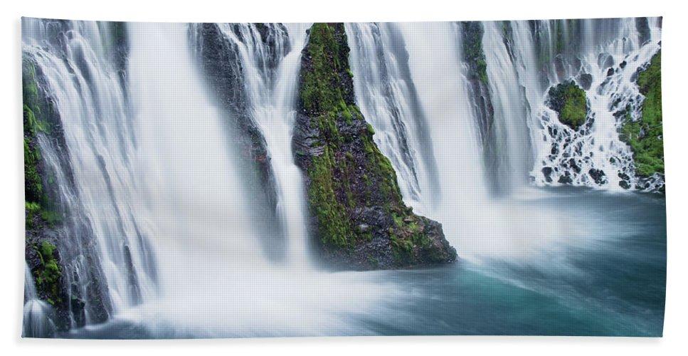 Waterfall Bath Sheet featuring the photograph Macarthur-burney Falls 1 by Greg Nyquist