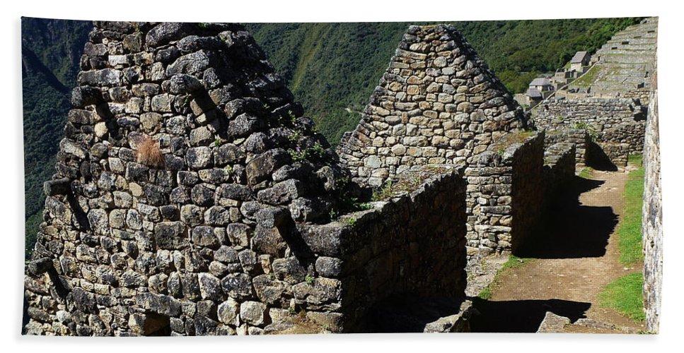 Peru Bath Sheet featuring the photograph Machu Picchu Peru 8 by Xueling Zou
