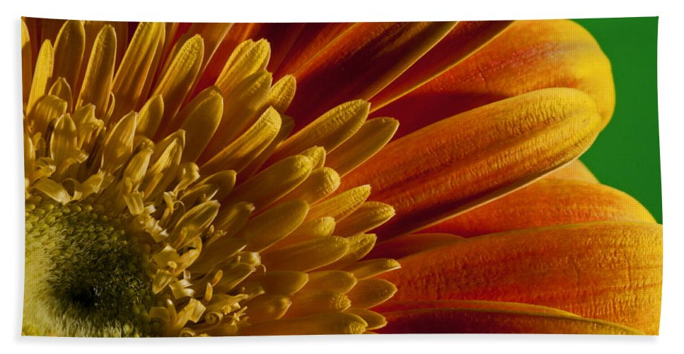 Abstract Bath Sheet featuring the photograph Macro Blumen by Nathan Wright
