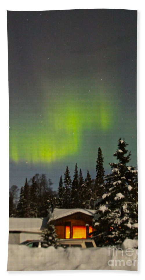 Alaska Bath Sheet featuring the photograph Magic Sky by Rick Monyahan