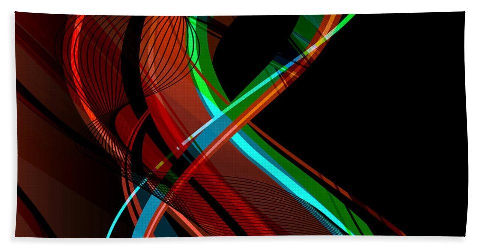 Make Hand Towel featuring the digital art Making Music 1 by Angelina Vick
