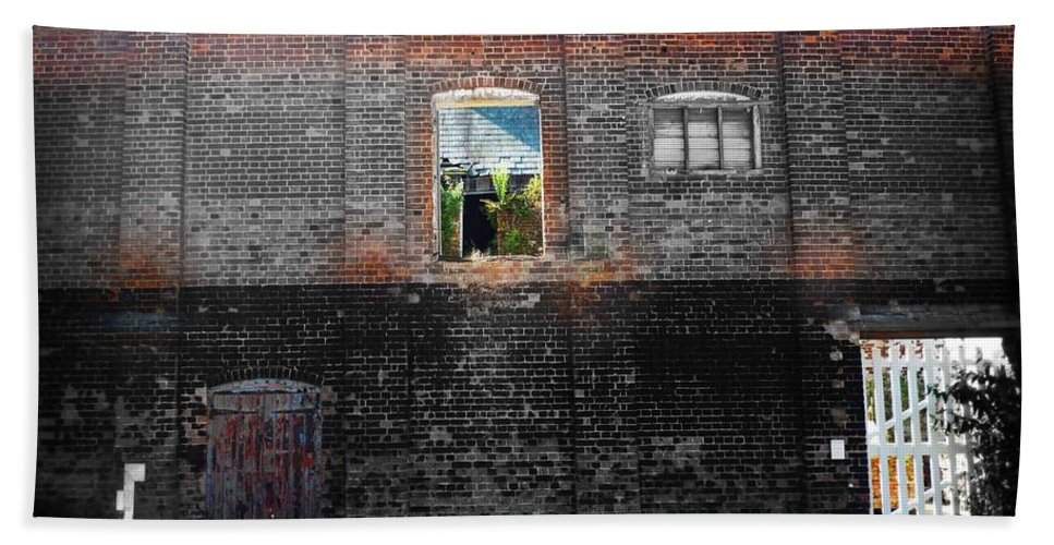Derelict Bath Sheet featuring the photograph Maltings by Charles Stuart