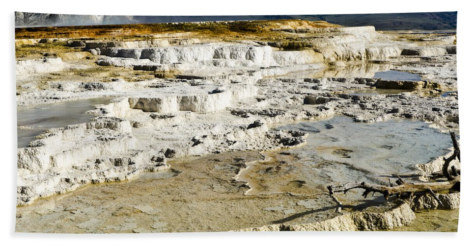 Yellowstone National Park Bath Sheet featuring the photograph Mammoth Hot Springs Terraces by Jon Berghoff