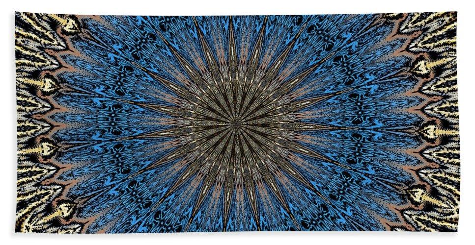 Mandala Bath Sheet featuring the digital art Mandala 111511d by David Lane