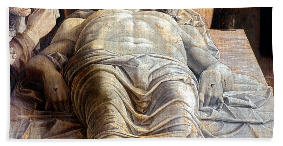 15th Century Hand Towel featuring the photograph Mantegna: The Dead Christ by Granger