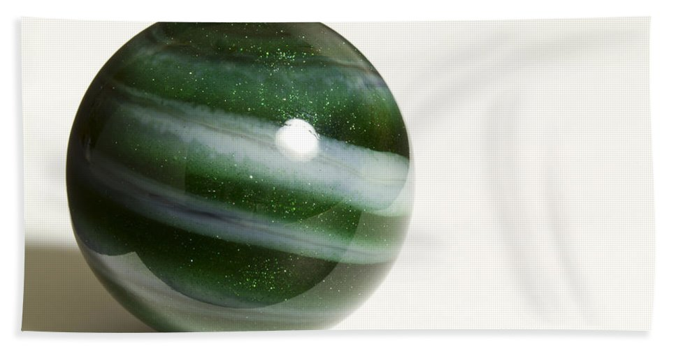 Photography Bath Sheet featuring the photograph Marble Green Onion Skin 2 by John Brueske