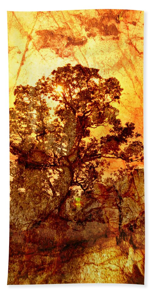Tree Hand Towel featuring the photograph Marbled Tree by Marty Koch
