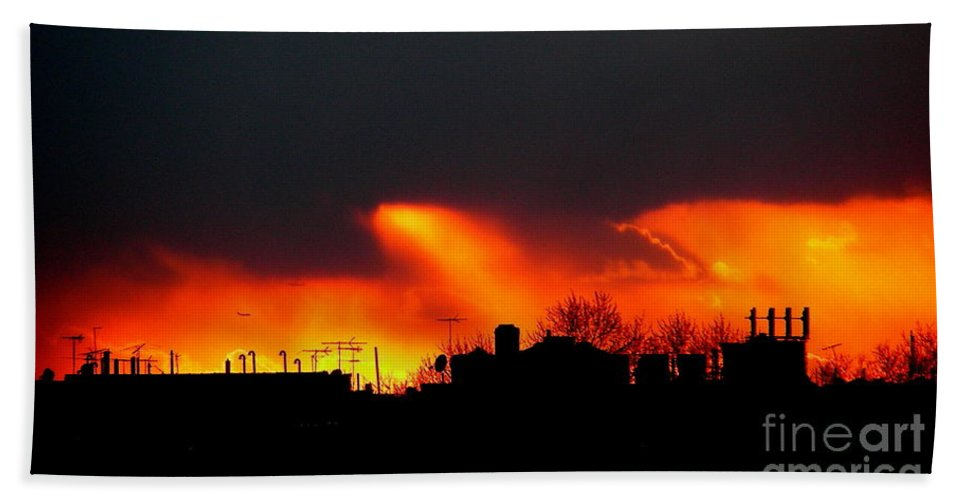 Sunset Bath Sheet featuring the photograph March 1 2008 by Mark Gilman