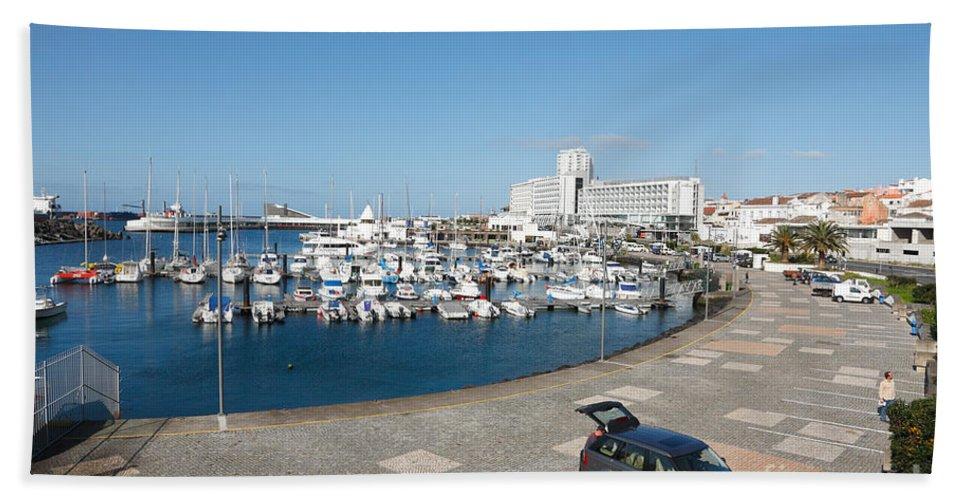 Ponta Delgada Bath Sheet featuring the photograph Marina by Gaspar Avila
