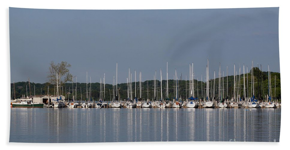 Seascape Hand Towel featuring the photograph Marina by Todd Blanchard