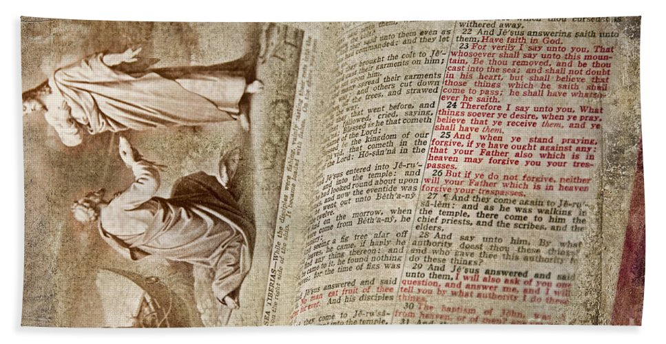 Bible Bath Sheet featuring the photograph Mark 12 by David Arment