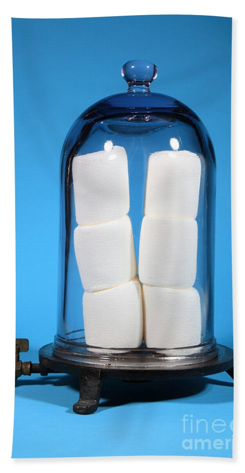Vacuum Hand Towel featuring the photograph Marshmallows In A Vacuum, 5 Of 5 by Ted Kinsman