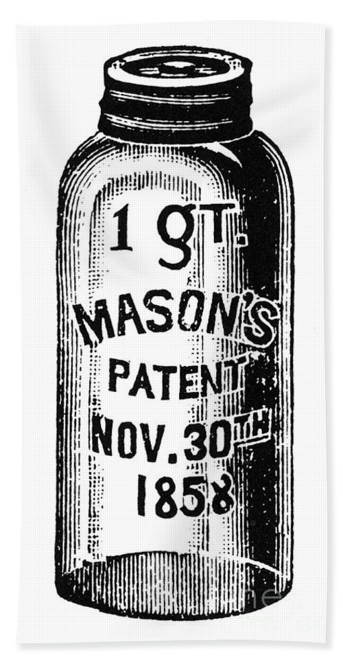 19th Century Hand Towel featuring the photograph Mason Jar by Granger
