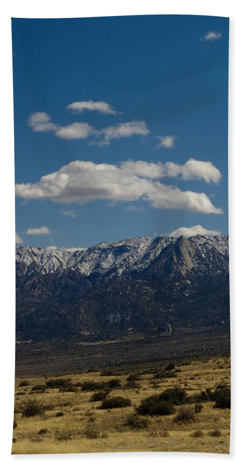 New Mexico Bath Sheet featuring the photograph Meadow And Mountains by Sean Wray
