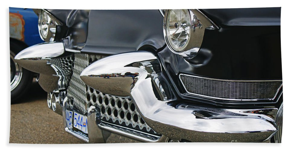Custom Cars Bath Sheet featuring the photograph Mean Looking Grill by Randy Harris