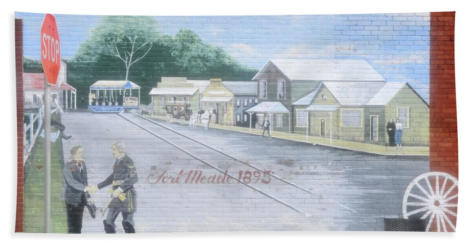 Fine Art Photography Bath Sheet featuring the photograph Meeting At Fort Meade by David Lee Thompson
