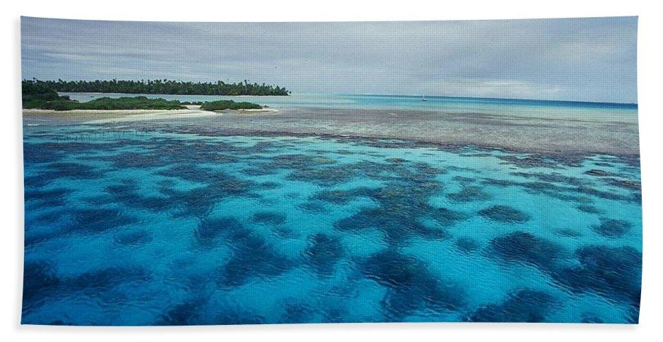 Meldives Bath Sheet featuring the photograph Meldives Paradise by Julianna Danson