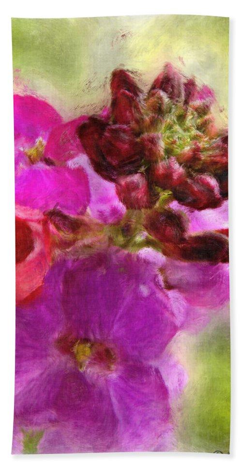Bitanical Bath Sheet featuring the digital art Mellow Magenta by Debbie Portwood