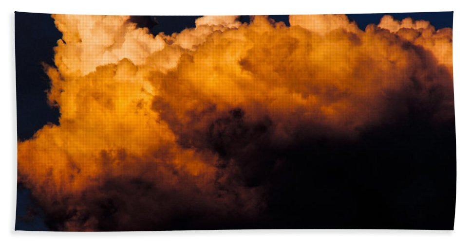 Menacing Bath Sheet featuring the photograph Menacing Cloud by Mick Anderson