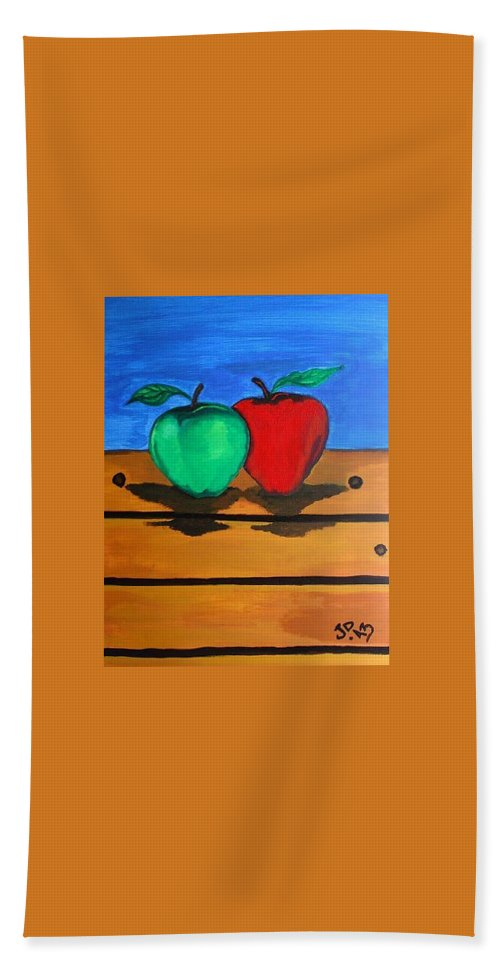 Fruits Hand Towel featuring the painting Menu by Pixie Alex