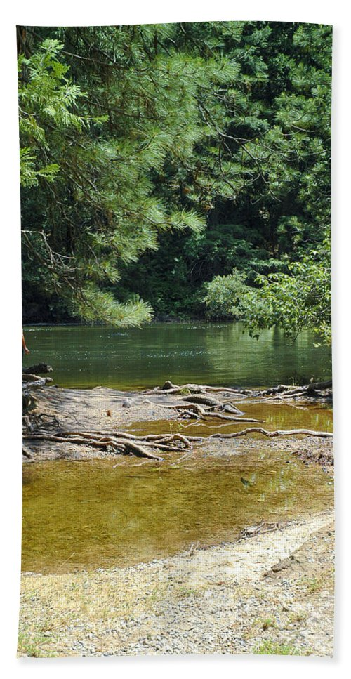 Usa Bath Sheet featuring the photograph Merced River Yosemite National Park by LeeAnn McLaneGoetz McLaneGoetzStudioLLCcom