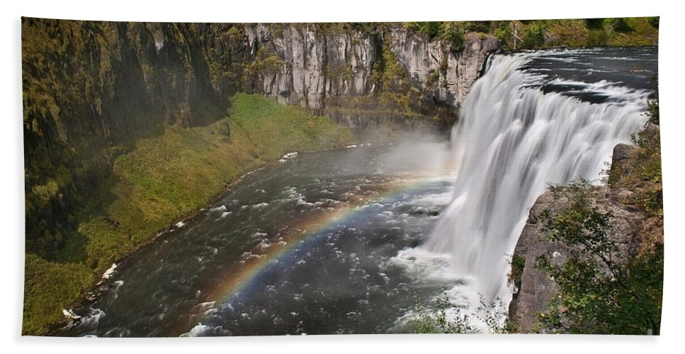 Waterfalls Bath Sheet featuring the photograph Mesa Falls II by Robert Bales