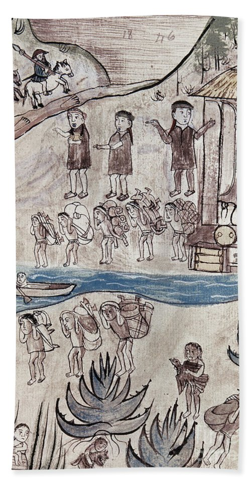 16th Century Bath Sheet featuring the painting Mexico Indians C1500 by Granger