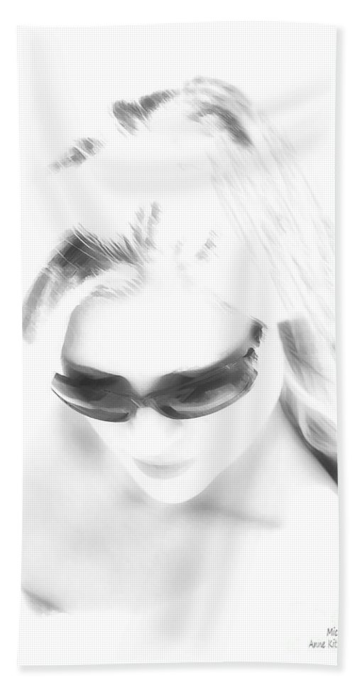 Black And White Hand Towel featuring the photograph Michelle by Anne Kitzman