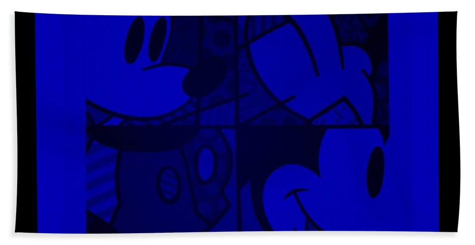 Mickey Mouse Bath Sheet featuring the photograph Mickey In Blue by Rob Hans