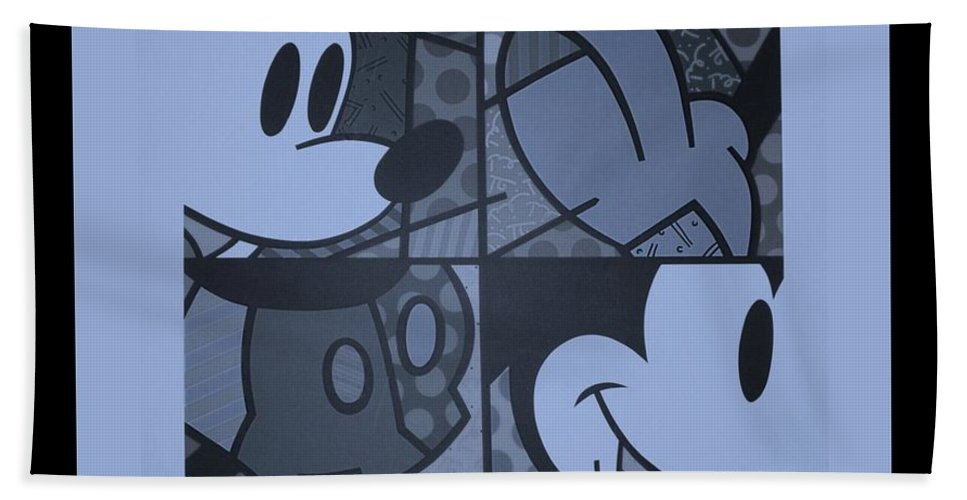 Mickey Mouse Bath Sheet featuring the photograph Mickey In Cyan by Rob Hans