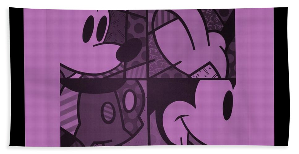 Mickey Mouse Bath Sheet featuring the photograph Mickey In Light Pink by Rob Hans