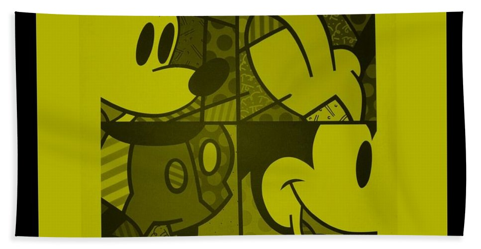 Mickey Mouse Bath Sheet featuring the photograph Mickey In Yellow by Rob Hans