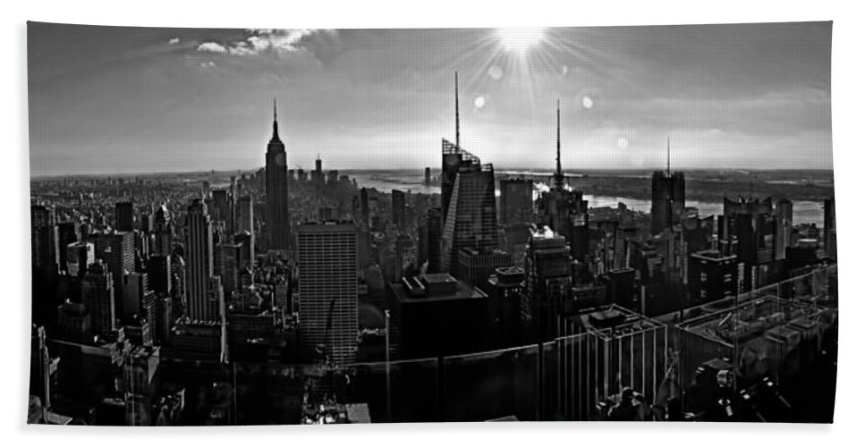 Black And White Hand Towel featuring the photograph Midtown South Bw by S Paul Sahm