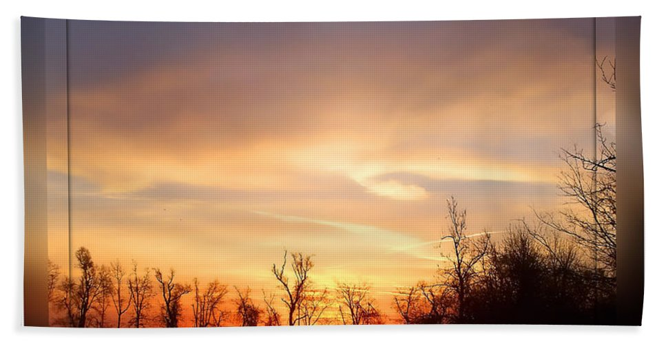 Landscape Bath Sheet featuring the photograph Mild Morning by Debbie Portwood