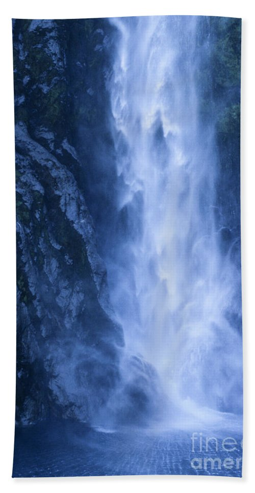Bronstein Hand Towel featuring the photograph Milford Sound New Zealand by Sandra Bronstein