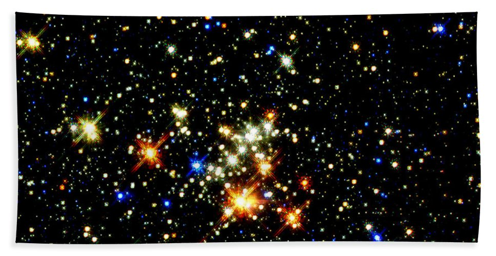 Nebula Bath Sheet featuring the photograph Milky Way Star Cluster by Jennifer Rondinelli Reilly - Fine Art Photography
