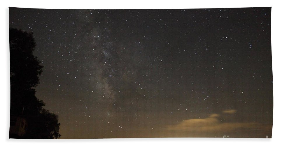 Milky Way Hand Towel featuring the photograph Milky Way by Ted Kinsman