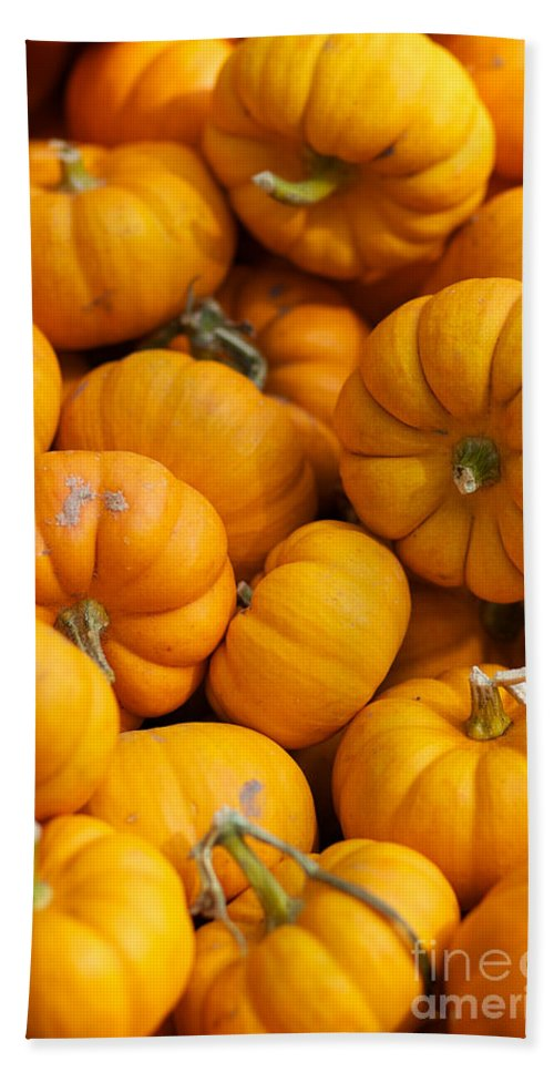 Fall Squash Bath Sheet featuring the photograph Mini Pumpkins by Brooke Roby