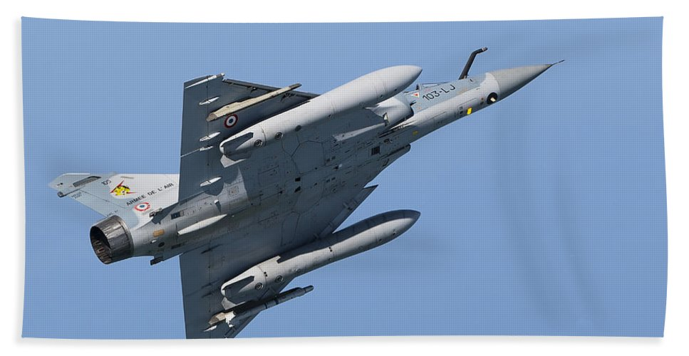 Transportation Hand Towel featuring the photograph Mirage 2000c Of The French Air Force by Gert Kromhout